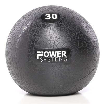 Power Systems MEGA Slam Textured Rubber 10 Inch Round Exercise Ball Prime Fitness Training Weight, 30 Pounds, Gray