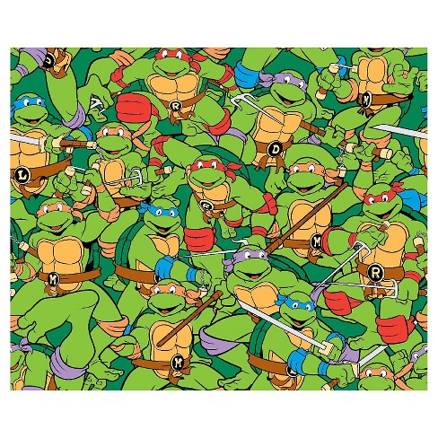 TMNT Heroes In Half Shell Flannel Fabric - image 1 of 1