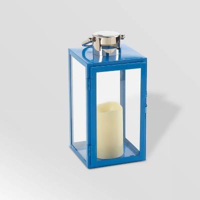 "11"" Nemo LED Candle Outdoor Lantern Blue - Smart Living"