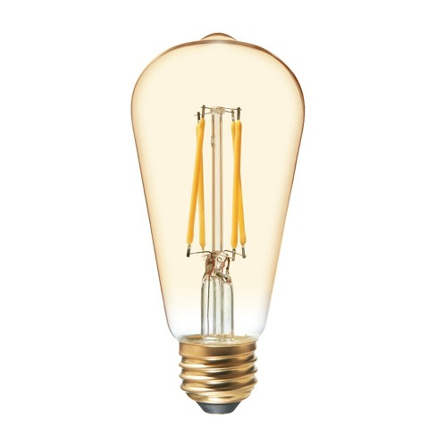 60w Vintage Aline St19 Filament Amber Led Light Bulb White General Electric
