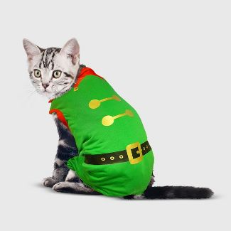 Holiday Elf Stretch Dog and Cat Matching Family Pajamas - Green - S - Wondershop™