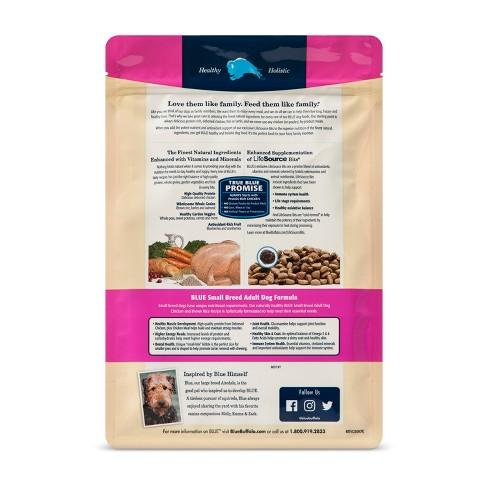 Blue Buffalo En Brown Rice Small Breed Dry Dog Food Target