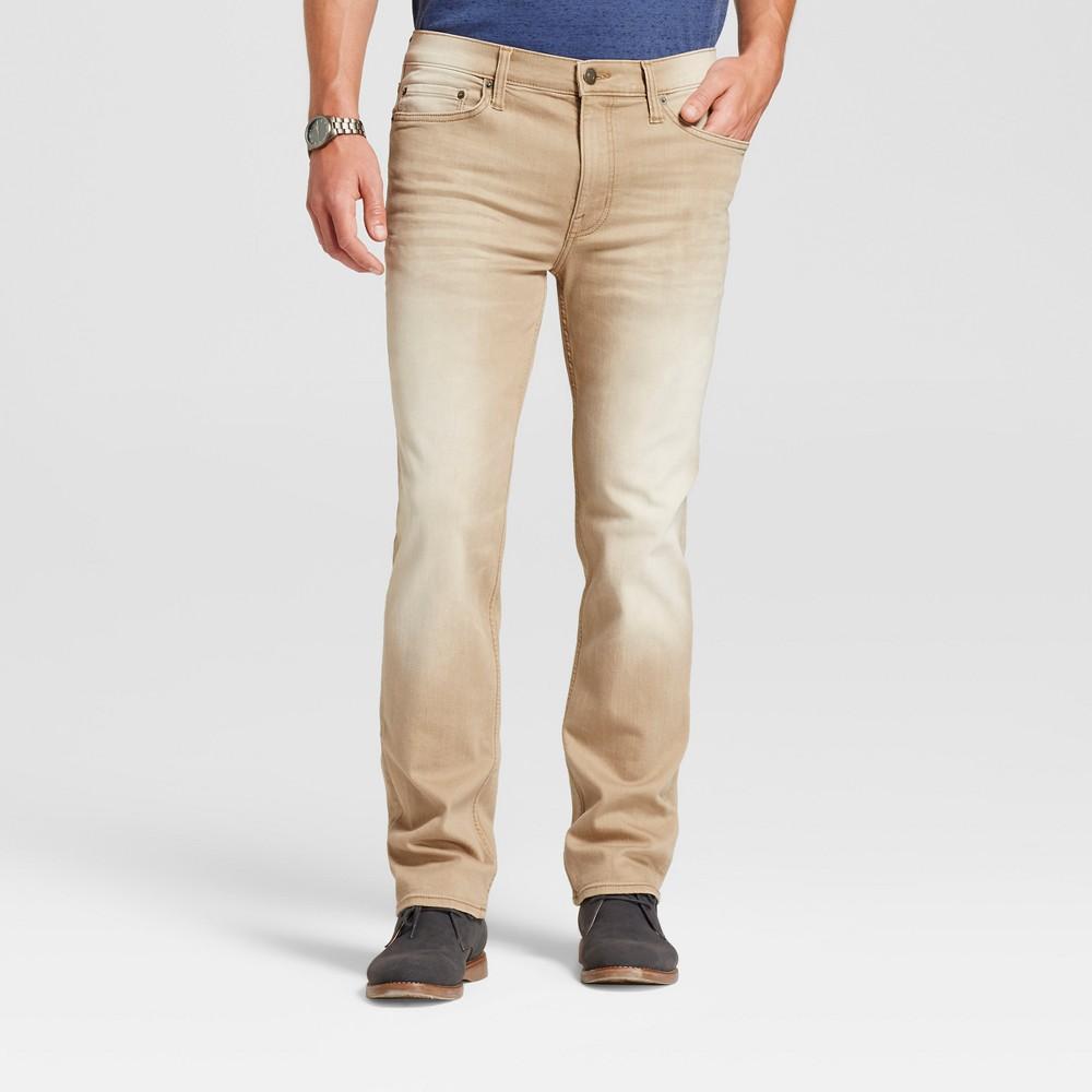 Men's Slim Straight Fit Jeans - Goodfellow & Co Tan 36x32, Beige