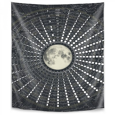 Americanflat Phases Of The Moon 2017 by Laura Grave Wall Tapestry