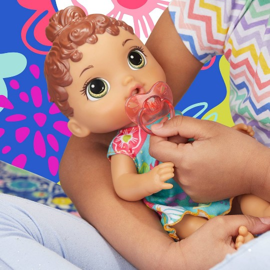 Baby Alive Baby Lil Sounds: Interactive Brown Hair Baby Doll image number null
