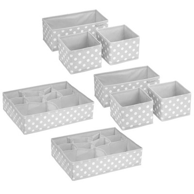 mDesign Fabric Drawer and Closet Storage Organizer, Set of 8