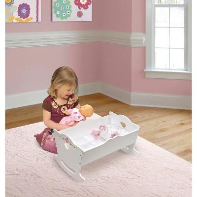 Badger Basket White Rose Doll Cradle : Target