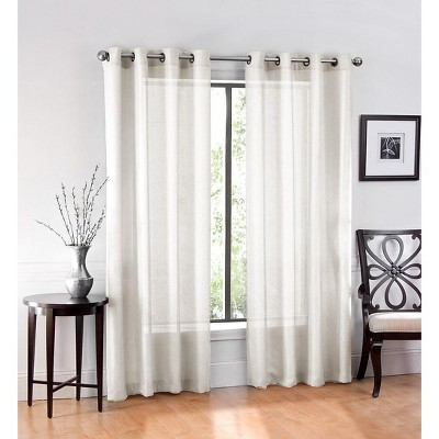 GoodGram Ultra Luxurious Elegant Sheer Grommet Curtain Panel