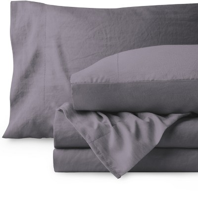 Bare Home Sandwashed Microfiber Sheet Set