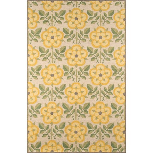 5'x8' Newport Area Rug Yellow - Momeni - image 1 of 4