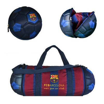 La Liga FC Barcelona Collapsible Soccer Ball Blue Duffel Bag