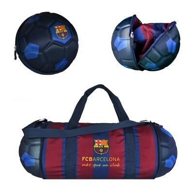 La Liga FC Barcelona Collapsible Soccer Ball Blue Duffel Bag