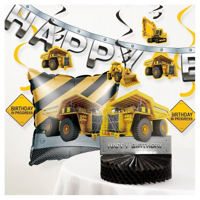 Birthday Zone Construction Party Decorations Kit