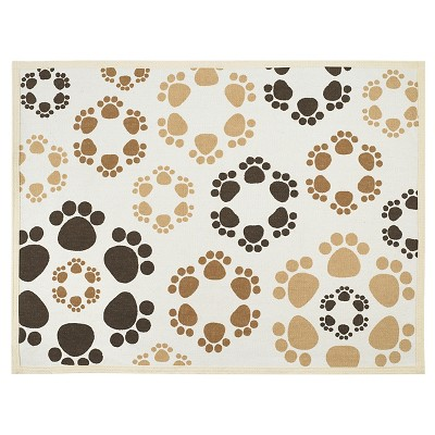 Buddy's Line Paw Flowers Fashion Forward Cotton Mat (19 x25.75 )