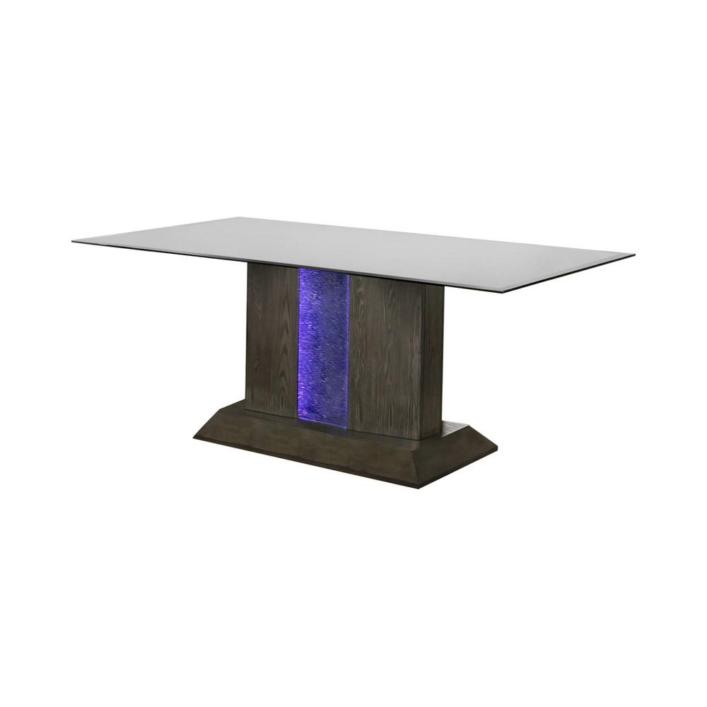 Lesko Rectangular Dining Table Gray Mibasics