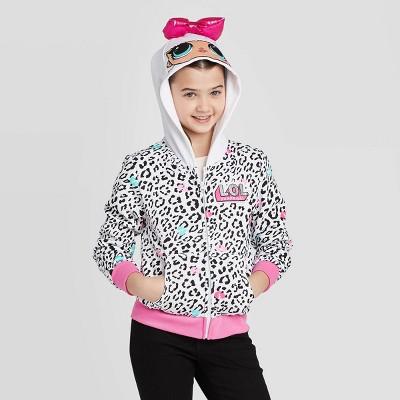 Girls' L.O.L. Surprise! Cosplay Hoodie Sweatshirt - White XS