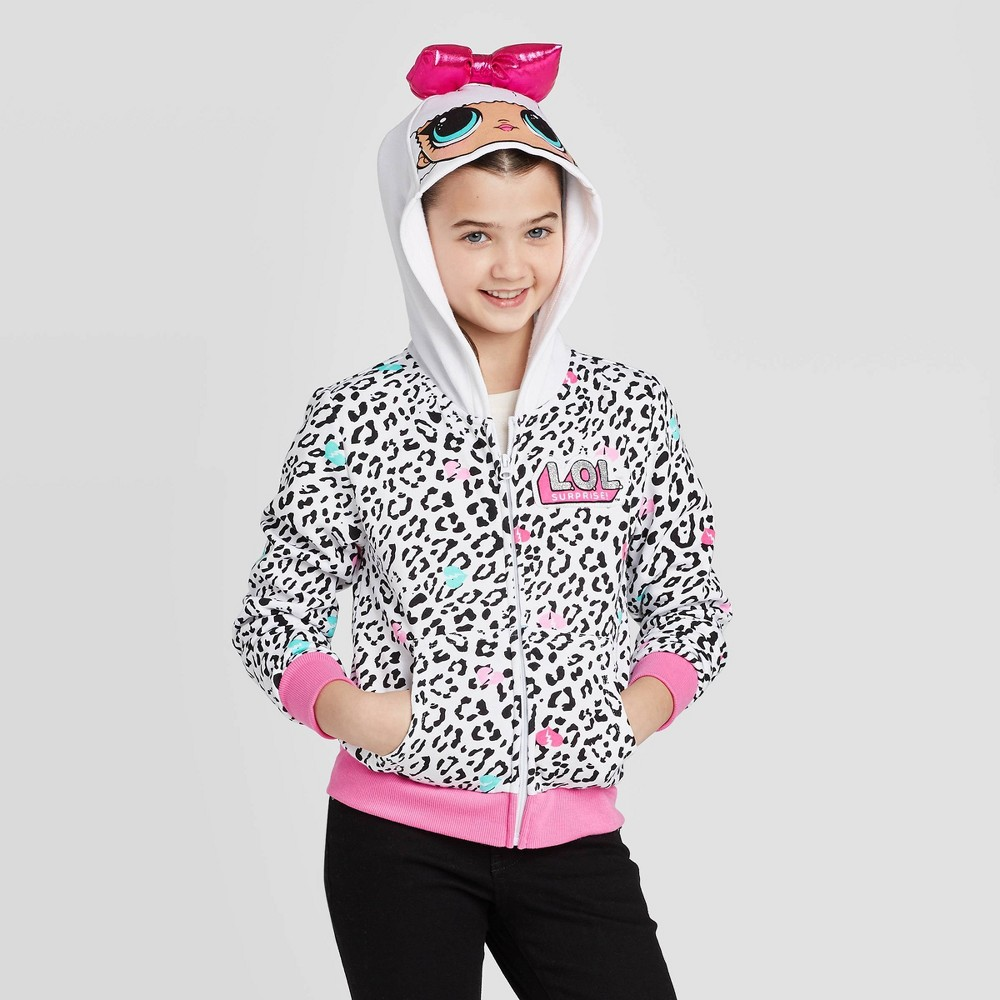 Image of Girls' L.O.L. Surprise! Cosplay Hoodie Sweatshirt - White L, Girl's, Size: Large