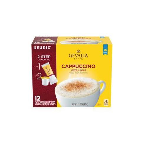 Gevalia Cappuccino Dark Roast Coffee Pods - 12ct - image 1 of 4