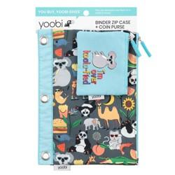 Binder Zip Pencil Case + Coin Purse - Animals/Food - Yoobi™