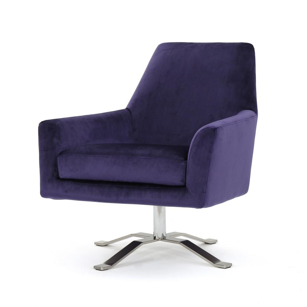 Awe Inspiring Ailis New Velvet Swivel Club Chair Plum Purple Christopher Squirreltailoven Fun Painted Chair Ideas Images Squirreltailovenorg