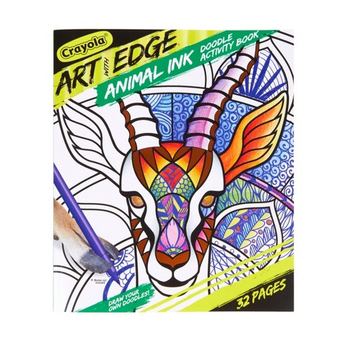 Crayola 32pg Art with Edge Coloring Book - Animal Ink Doodling - image 1 of 4