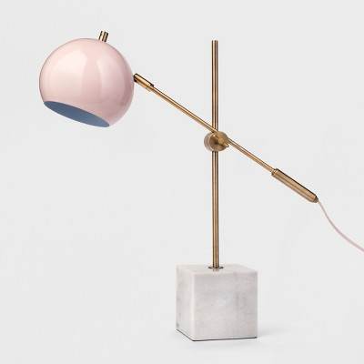 Table Lamp with Marble Base (Includes CFL Bulb)- Pink - Project 62™