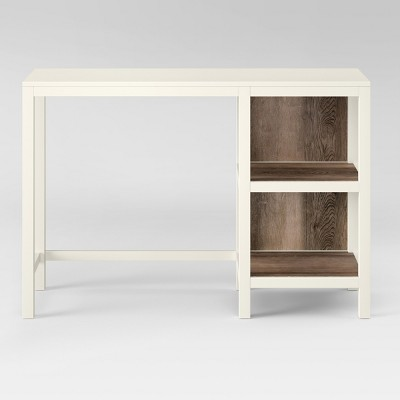 Hadley Wood Writing Desk with Storage Shell - Threshold™