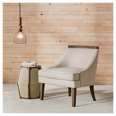 Coulter Reclaimed Trim Accent Chair   Cream : Target