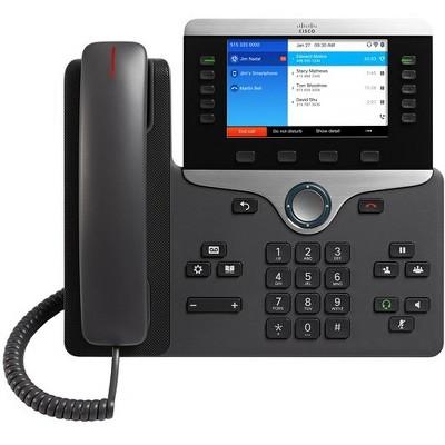 Cisco 8861 IP Phone - Wall Mountable, Desktop - Black - 5 x Total Line - VoIP - Caller ID - SpeakerphoneEnhanced User Connect License