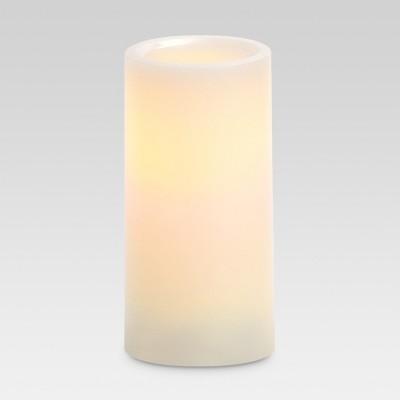 LED Pillar Candle White 3 x6  - Threshold™