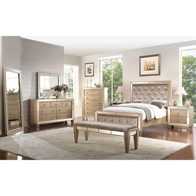 Claudine Mirrored Bedroom - Abbyson Living