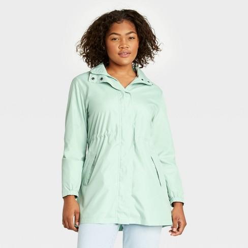Women's Rain Jacket - A New Day™ Light Mint - image 1 of 4