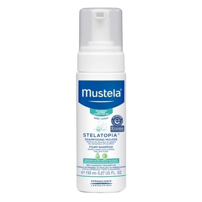 Mustela Stelatopia Fragrance Free Baby Foam Shampoo for Eczema Prone Skin - 5.07 fl oz