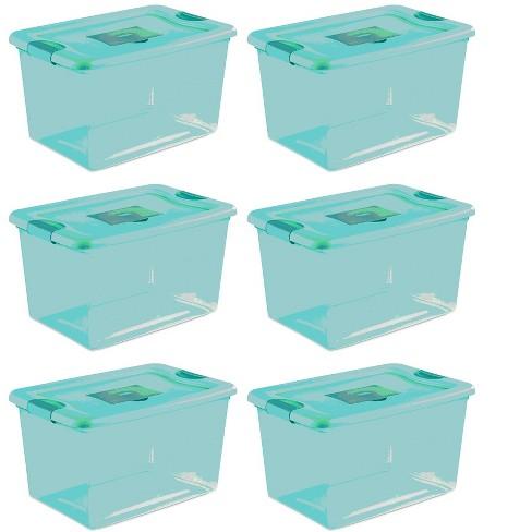 Sterilite 64 Quart Fresh Scent Stackable Plastic Storage Box Container 6 Pack Target