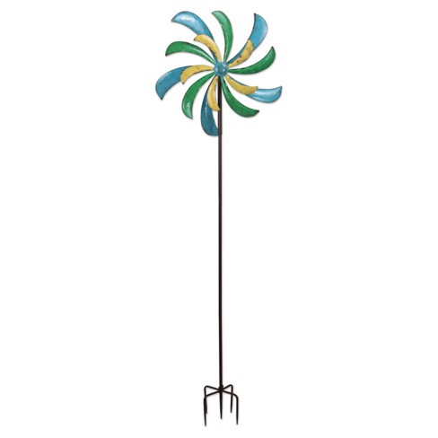 "72"" Outdoor Metal Alize Spinner Stake - Multi Color - Sunset Vista Designs - image 1 of 1"