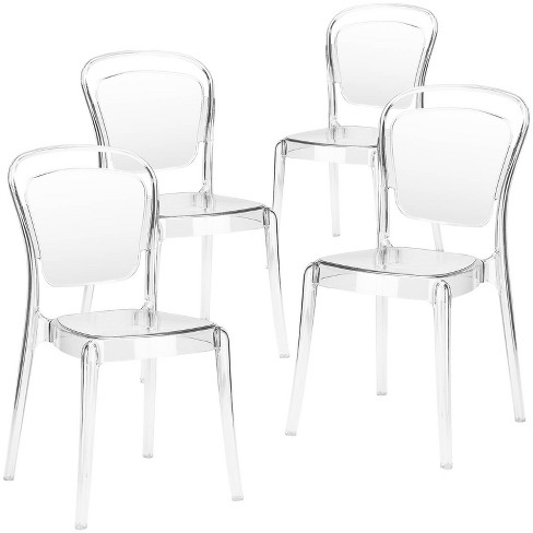 Set of 4 Genevieve Dining Side Chair Clear - Poly & Bark - image 1 of 4