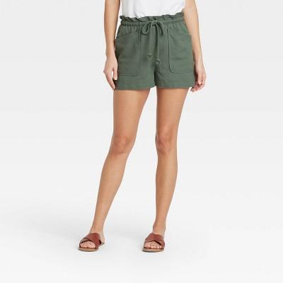 Women's Mid-Rise Tie Waist Utility Shorts - Universal Thread™