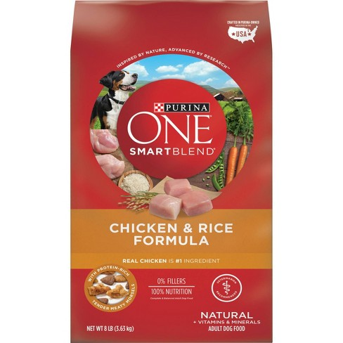 Purina ONE SmartBlend Chicken & Rice Formula Adult Dry Dog Food - image 1 of 4