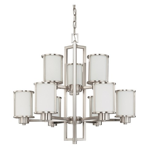 Aurora Lighting 9 Light Chandelier Brushed Nickel - image 1 of 1