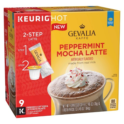 Gevalia Peppermint Mocha Latte Medium Roast - K Cup Pods - 9ct - image 1 of 1