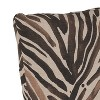 Polyester Washed Pillow Square Zebra Chocolate - Cloth & Co. - image 3 of 4