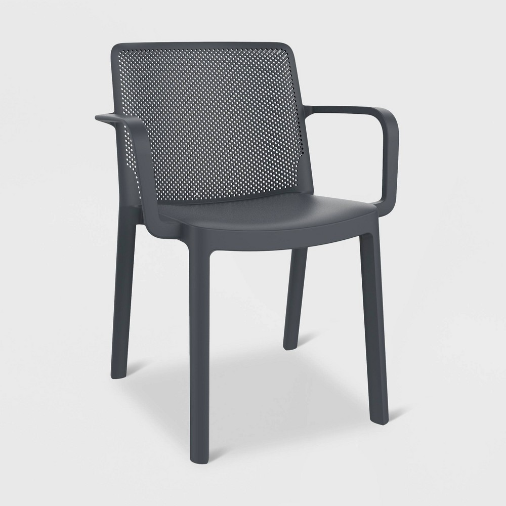 Fresh 2pk Patio Armchair - Dark Gray - Resol