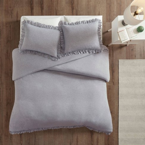 Kristy Jersey Knit Ruffle Duvet Cover Set - image 1 of 4