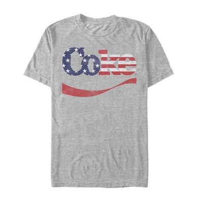 Men's Coca Cola Patriotic Star Emblem T-Shirt