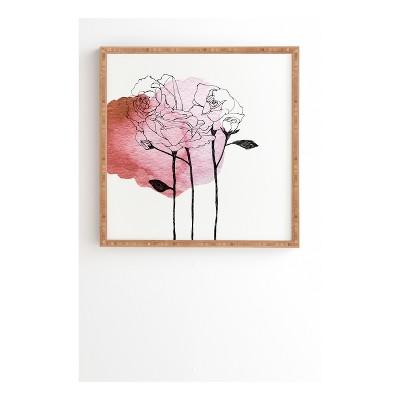 Morgan Kendall Garden Roses Framed Wall Art 30  x 30  - Deny Designs
