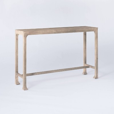 Belmont Shore Curved Foot Console Table Fully Assembled Natural - Threshold™ designed with Studio McGee