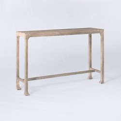 Belmont Shore Curved Foot Console Table Gray Wash - Threshold™ designed with Studio McGee