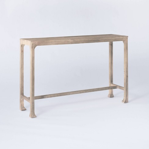 Belmont Shore Curved Foot Console Table Gray Wash - Threshold™ designed with Studio McGee - image 1 of 4