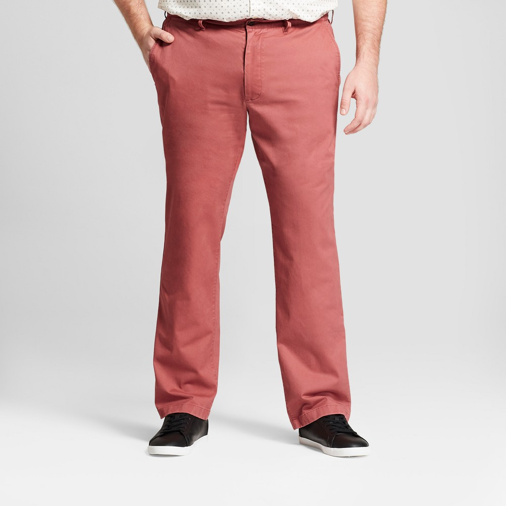 Image of Men's Tall Straight Fit Hennepin Chino Pants - Goodfellow & Co Dusty Red 30x36