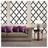 Devine Color Cable Stitch Peel & Stick Wallpaper Black/White - image 2 of 4